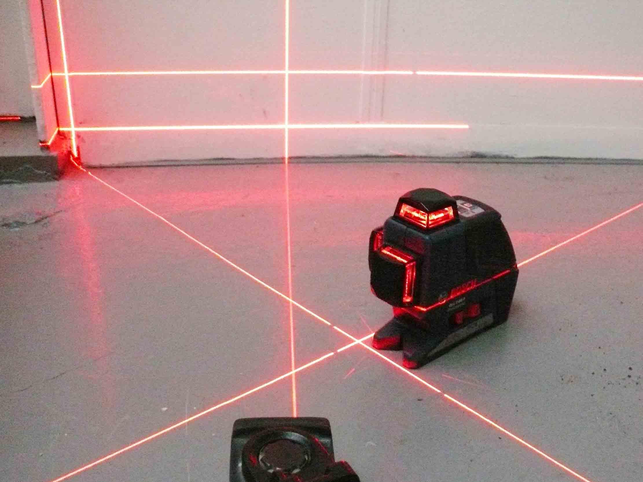 laser schuin dak inmeten